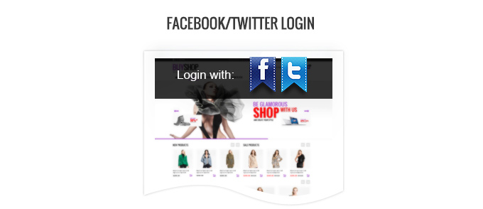 Possibility to login via Facebook and Twitter