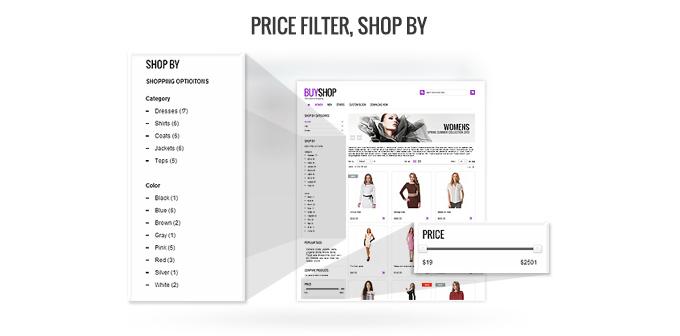 Price filter presence