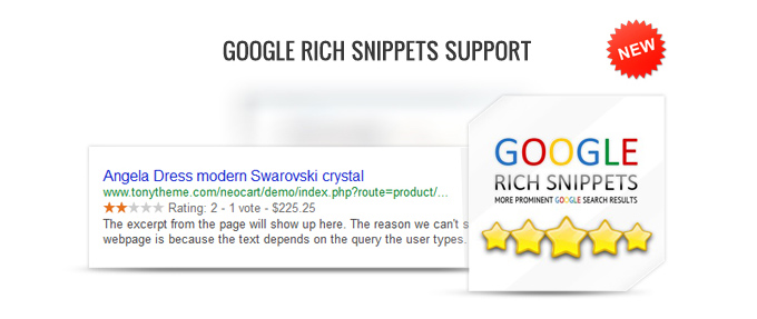 Google rich snippets support image