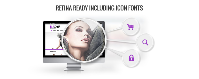Retina ready including icon fonts image