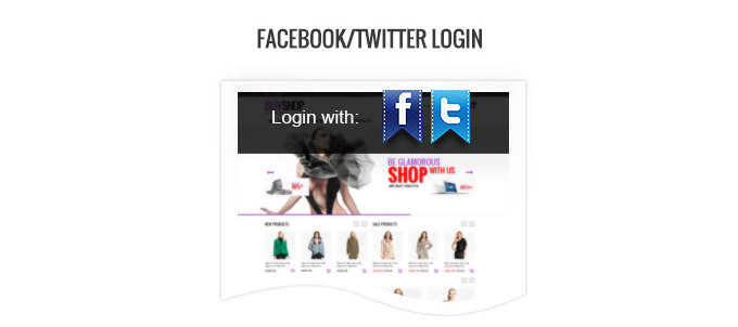 Login via Facebook or Twitter possibility image