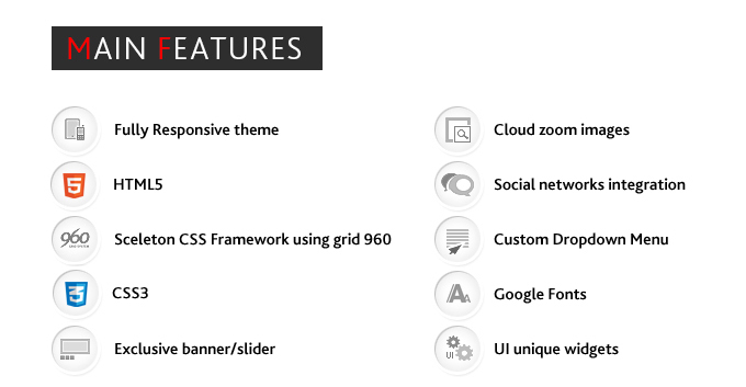 Main Dresscode theme's features list