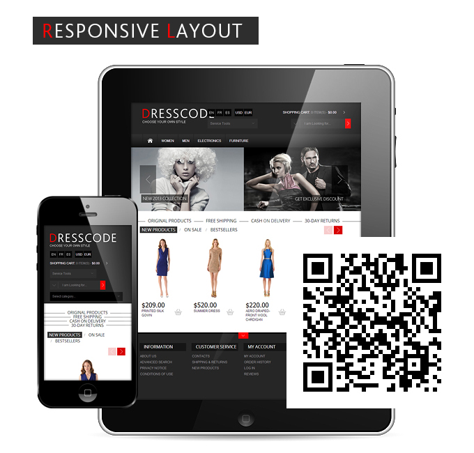 Dresscode oscommerce has responsive layout