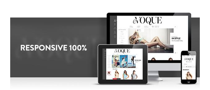Evoque web theme is responsive 100%