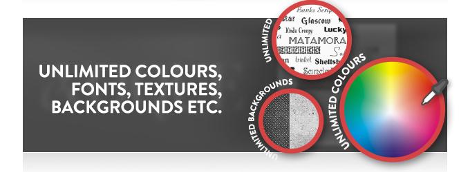 Evoque theme has unlimited colours