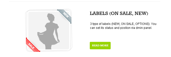 Labels On sale, New are available