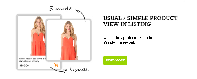 Usual-simple product view in listing picture