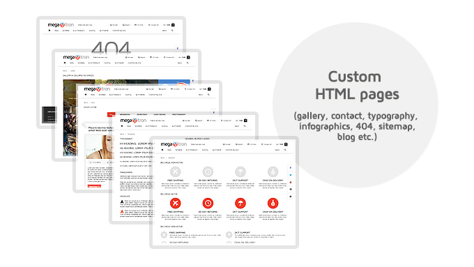 Megatron Custom html pages available