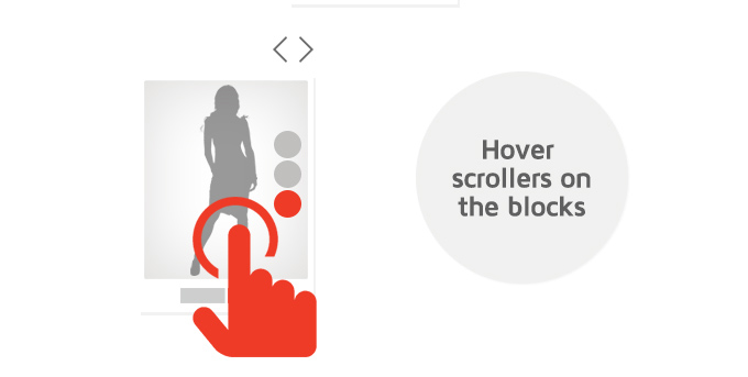 Hover scrolles on the blocks image