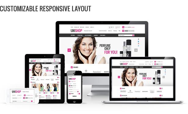 Customizable responsive layout image