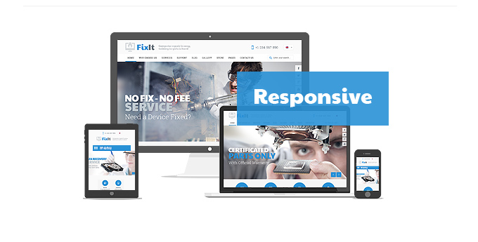 Fixit Computer Gadget Repair web theme is responsive
