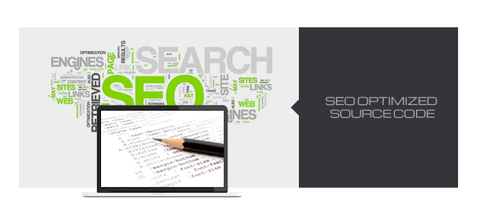 SEO optimized source code is used